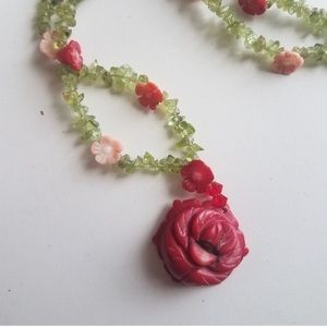 Anthropologie Jewelry - Rose coral necklace